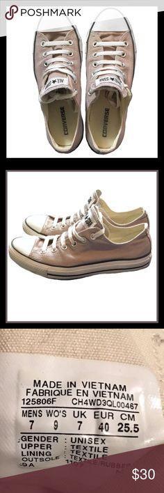 CONVERSE ALL-STARS Shoes 🔲Only worn a couple times, CONVERSE ALL-STARS Taupe colored shoes.                                                                                                                                 🔲Size 7 Mens , Size 9 Woman. Converse Shoes Sneakers