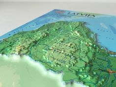 Raised Relief Map of Latvia 3d Poster, Tourist Map, Vacuum Forming, Regional, Maps, Ideas, Style, Souvenir, Map