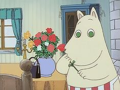 deserves all the happiness in the world ♡ And all the roses ♡ -YOU, my love; deserves all the happiness in the world ♡ And all the roses ♡ - midnight - anthem Happy Moomin Happy Moomin Moomin gif Moomin Wallpaper, Vintage Cartoons, Moomin Valley, Tove Jansson, Cartoon Profile Pictures, Cute Cartoon, Anime Art, Cool Art, Troll