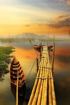 Bamboo Dock, Indonesia http://exploretraveler.com http://exploretraveler.net