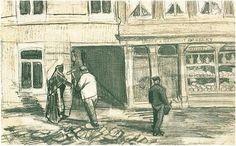 Vincent Willem van Gogh (1853-1890). Bakkerij aan de Geest (buurt van de Torenstraat en Oude Molstraat)