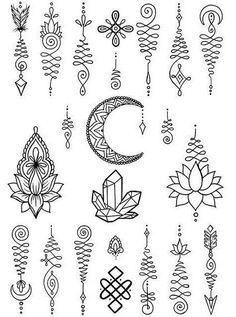 ☾ Ig : Kyrapg⋆⋆ Those crystals tho Tattoo P, Unalome Tattoo, Mandala Tattoo, Cute Tiny Tattoos, Mini Tattoos, Small Tattoos, Cross Tattoos For Women, Sleeve Tattoos For Women, Simplistic Tattoos