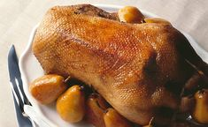 Roast Goose with Spiced Pears #recipe #Christmas #holiday