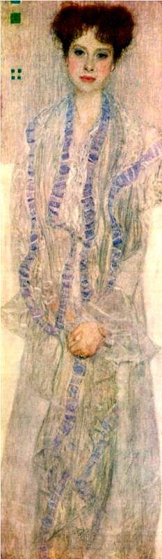 Gustav Klimt. Portrait of Herta Felssvani. 1902