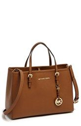 yes please - MICHAEL Michael Kors 'Jet Set – East/West' Saffiano Leather Tote, Medium available at Michael Kors Jet Set, Cheap Michael Kors, Michael Kors Outlet, Michael Kors Tote, Michael Kors Silver Bag, Michael Kors Hamilton, Mk Handbags, Handbags Michael Kors, Cheap Handbags