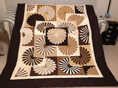 "Susan Hull: ""This quilt is in ""Thoroughly Modern Dresden"" by Anelie Belden. I used 27 different fabrics and my husband loves it. It will be ..."