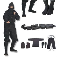 Shinobi Ninjutsu Stealth Ninja Uniform Gift Set For Sale | All Ninja Gear: Largest Selection of Ninja Weapons | Throwing Stars | Nunchucks