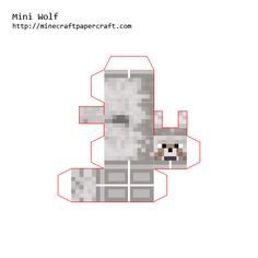 Minecraft Printable Cutouts | Minecraft Cutouts Wolf http://minecraftcutnfold.weebly.com/mini.html