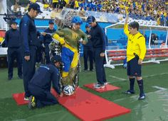 Paraplegic kicks off the 2014 World Cup with the help of a robotic exoskeleton!