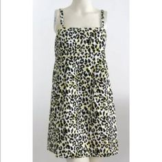MICHAEL Michael Kors Leopard Dress Versatile can be worn with straps or totally strapless ~ Straps have 2 tear button holes on both sides for a perfect fit, or to remove them if you'd like to wear it without straps. Side seam slip in pockets. Also has an elastic strap inside around back to hold up dress if your not using the straps. Made of 97% Cotton & 3% Spandex. Fully lined in a white polyester lining. Gently worn,  just needs to be dry cleaned as I just pulled it out of storage. pp…