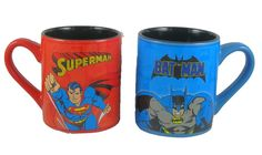 Batman And Superman Collector's Item Mug Set These mugs are not microwave or dishwasher friendly. They are collector items.