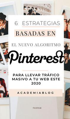 Aplica estrategias Pinterest basadas en el algoritmo 2020 y comienza a llevar más tráfico a tu blog desde la plataforma. Conoce 6 estrategias que debes comenzar a aplicar ya #academiablog #bloguero #blogger #tipsblog #emprendimiento #mujeresemprendedoras #marektingpinterest Blogging, Marketing, Academia, Signs, Wedge, Tips, Messages, Shop Signs, Blog