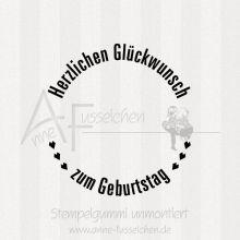 Maxistempel - ... zum Geburtstag 04 | ø 5,0 cm
