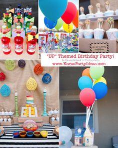 "Disney's ""UP"" themed birthday party via Karas Party Ideas | KarasPartyIdeas.com #up #themed #birthday #party #planning #ideas #cake #disney #decor #supplies #shop #idea"