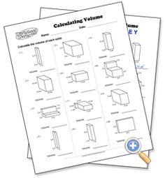 Calculating Volume - WorksheetWorks.com