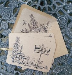 Woodland Walk wedding invitation from Paper Willow.