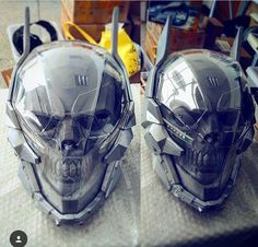 Discover recipes, home ideas, style inspiration and other ideas to try. Skull Helmet, Helmet Armor, Skull Mask, Futuristic Helmet, Futuristic Armour, Robot Concept Art, Armor Concept, Helmet Design, Mask Design