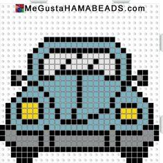 VW Beetle hama perler beads pattern by paige. , VW Beetle hama perler beads pattern by paige Beaded Cross Stitch, Cross Stitch Charts, Cross Stitch Designs, Cross Stitch Embroidery, Cross Stitch Patterns, Hama Beads Patterns, Beading Patterns, Crochet Patterns, Pixel Crochet