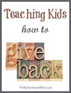 Giving back to the community and how to get your kids involved - Thrifty NW Mom