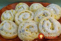Mäkučké a fantasticky chutné pudingové slimáky s tvarohom a hrozienkami!