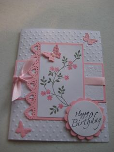 Stampin Up Thoughts & Prayers Birthday Card