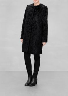 & Other Stories | Mohair-Blend Coat. Made from a mohair blend, this furry coat features a straight, clean-cut design.