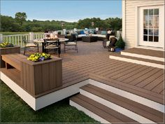 China Cheap WPC Wood Plastic Composite Flooring / Decking for Garden, Find details about China WPC, WPC Decking from Cheap WPC Wood Plastic Composite Flooring / Decking for Garden - Xiamen Noya Manufacturing & Trading Co. Wpc Decking, Composite Decking, Composite Flooring, Trex Decking, Wood Flooring, Outdoor Flooring, Wooden Terrace, Wooden Decks, Patio Deck Designs