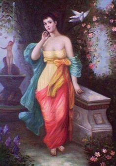 Latin szépség, mediterrán virágoskertben, a barokk romantika jegyében Lany, Strapless Dress, Painting, Dresses, Fashion, Strapless Gown, Vestidos, Moda, Fashion Styles
