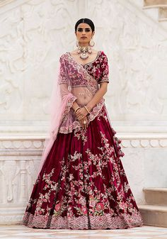 Purple Colour Ruby Silk Fabric Party Wear Lehenga Choli Comes With Matching Blouse. This Lehenga Choli Is Crafted With Embroidery. This Lehenga Choli Comes With Unstitched Blouse Which Can Be Stitched. Designer Bridal Lehenga, Bridal Lehenga Choli, Silk Lehenga, Anarkali, Sabyasachi Designer, Bridal Sari, Bollywood Lehenga, Lehenga Wedding, Silk Dupatta