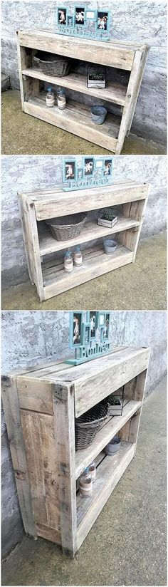 If you would give a look at some best wood pallet recycling ideas then you would probably be finding wood pallet shelving table ideas at the top of the list. This shelving table idea of wood pallet are somehow taken as a ultimate options in the house as for placing your important accessories.