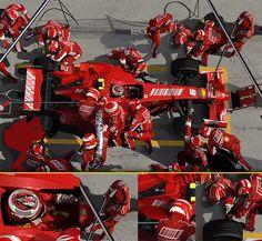 Ferrari pit-stop illustration