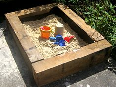 Building a Sand Pit using Railway Sleepers
