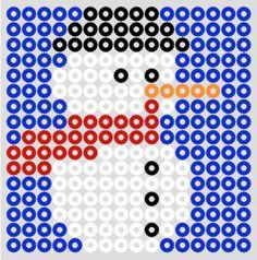 Snowman Christmas perler bead pattern