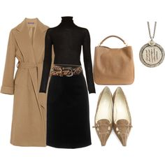 """""""camel and black"""" by stantau on Polyvore"""
