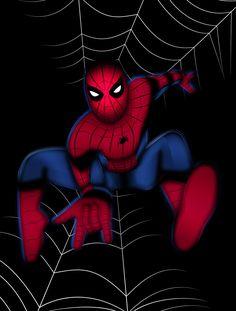 Spider-Man Art Print by Nathan Owens