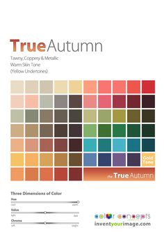 Colors for True/Warm Autumn Women