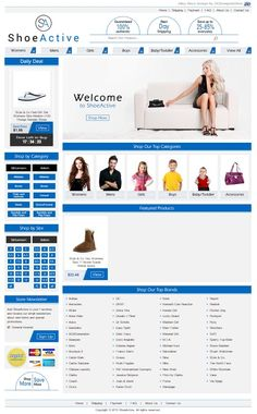 We're pleased with the way the eBay shoe store we put together for our client ShoeActive turned out