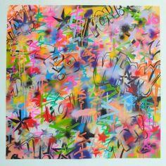 "London West Bank Gallery — ""Zap Wham Pow"" Original Canvas 1/1 by MILO acrylic spray and marker"