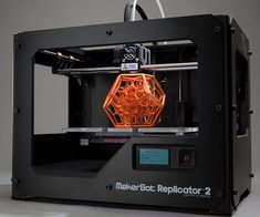 """Get one step closer to downloading a car with the revolutionary desktop 3D printer.This professional quality printer integrates with the easy to use """"Thingiverse"""" platform, allowing you to print out all kinds of unique items from the comfort of home."""