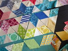 Machine pieced Six-pointed Stars by StitchedInColor - this is so neato!