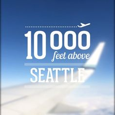 Flying over #Seattle because that's what #travelling is all about. With #veedeo of course
