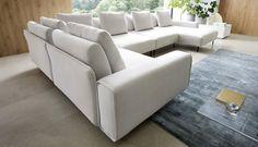 Niewątpliwą zaletą tego zestawu jest jego modułowość, która daje możliwość urządzenia w elegancki i ekskluzywny sposób każdego wnętrza, nawet małego. Wykończenie stanowi wysokiej jakości tkanina tapicerska. Zestaw Symbio sprawdzi się we wnętrzach nowoczesnych i ale także retro. Sofa, Couch, Retro, Furniture, Home Decor, Settee, Settee, Decoration Home, Room Decor