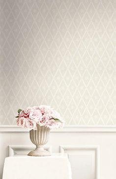 Bedroom Wallpaper Accent Wall, Look Wallpaper, Hallway Wallpaper, Neutral Wallpaper, Dining Room Wallpaper, Wallpaper For House, Cottage Wallpaper, Spring Wallpaper, Master Bedroom With Wallpaper