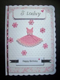 Happy Birthday Card for Girl with Age with by MichelleLouiseCards, £1.99