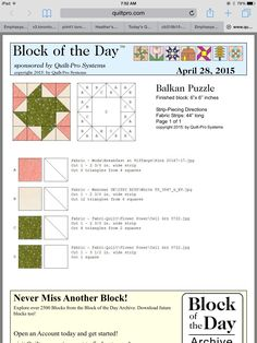 Balkan puzzle quilt of the day