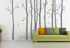 Tree wall decals Large birch tree wall mural Tree by WallArtDIY