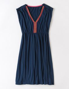 Rosie Dress- Boden- I like this high waist and neckline