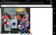 Halloween costumes for the family Laundry