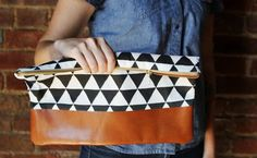 Why Buy When You Can DIY This Slouchy Clutch? via Brit + Co.