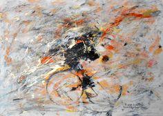 """""""FUGA D'ARTISTA"""" - opera di Roberto Sironi - acrilico su tela - 65 x90"""